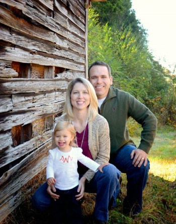 Dr. Amy, Dr. Brandon Williams and their daughter Anna
